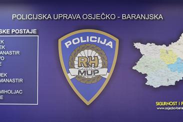 Maloljetnik osumnjičen za niz kaznenih djela u Baranji; teška krađa u Đakovu