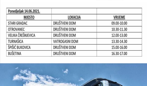 Krenuo COVID-autobus za cijepljenje; evo i rasporeda