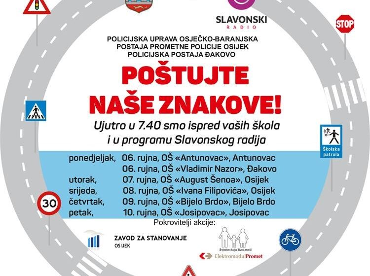 Počinje škola – oprezno vozači! – akcija MUP-a u Slavonskog radija za sigurnost u prometu!