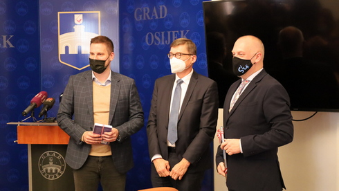 Austrijski veleposlanik Josef Markus Wuketich u nastupnom posjetu Osijeku